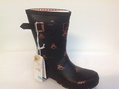 Joules Mid Rain Boots - Molly Welly Bumblebee  10 • 50$