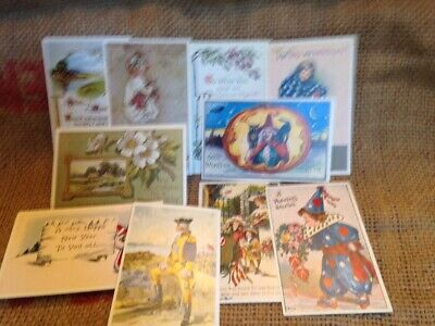 $ CDN13.82 • Buy 10 Holiday Halloween Valentines Memorial Postcards NEW Vintage Reproduction Lot