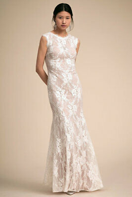 $ CDN250 • Buy Sold Out BHLDN Lace Wedding Maxi Wedding Dress Size 10 US - Anthropologie