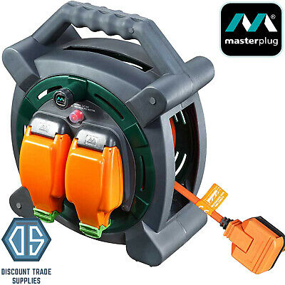 £42.99 • Buy Masterplug 20m Outdoor IP Rated Mains Extension Cable Reel Weatherproof Sockets