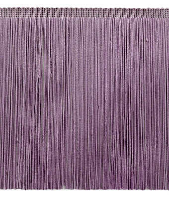 Lilac Light Purple 8  Chainette Fringe Trim Orchid Opera [By The Yard] • 5.22£