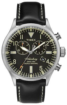 $69.97 • Buy Timex TW2P64900 Waterbury Men's Analog Cronograph Watch Black Leather Strap