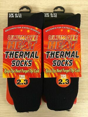 1 ,2 Mens Ultimate Thick Hot Winter Warm Thermal Socks Ultimate Heat 2.3 TOG  • 5.99£