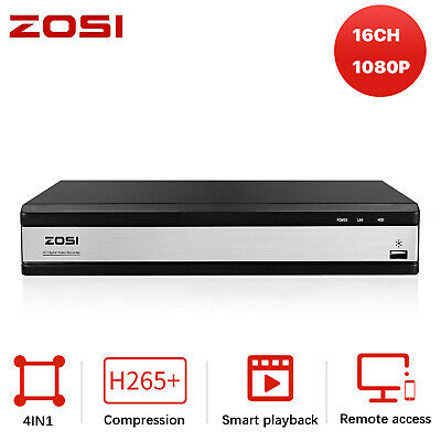 AU93.74 • Buy ZOSI 16CH HD 1080P HDMI DVR Video Recorder For CCTV Security Camera System Home