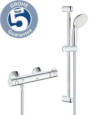GROHE 34565001 Grohtherm 800 Thermostatic Shower Set Temperature Control • 121.50£