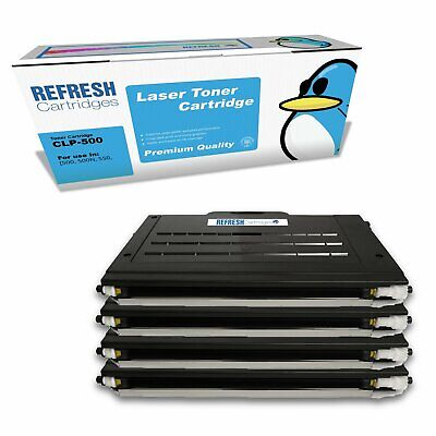 £129.57 • Buy Refresh Cartridges Value Pack Clp-500 Toner Compatible With Samsung Printers