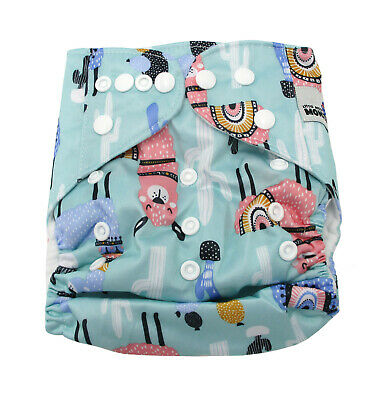 AU9.95 • Buy New Modern Cloth Nappies Mcn Diapers Potty Reusable Llama Shell