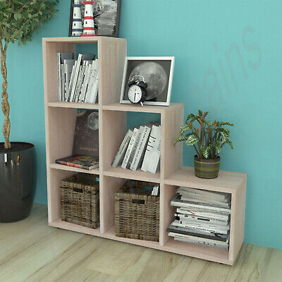 AU124.72 • Buy 6 Cube Shelf Staircase Bookcase Storage Display Unit Book Shelf Furniture