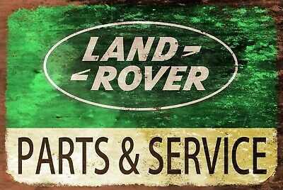 Land Rover Parts And Service Advert Vintage Style Retro Metal Plaque Sign Garage • 6.99£