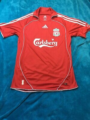 Liverpool T Shirt Carlsberg Adidas Size M Authentic Original Game Match Holiday • 39.99£