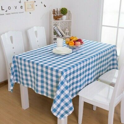 AU20.35 • Buy Country Gingham Tablecloth Dining Kitchen Table Cover Protector Tableware SPW