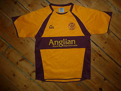 SIGNED Small Motherwell FC Football Shirt  HOME Soccer Jersey 2007/08 Scottish • 15.99£