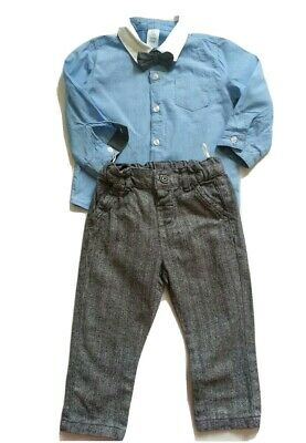 £7.99 • Buy Baby Boy 3 Piece Outfit, Shirt, Trouser, Bow Tie 9-12m