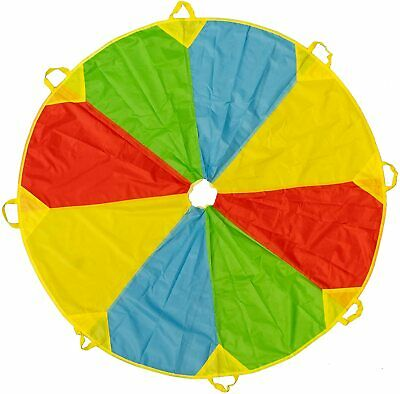6 Ft Kids Play Rainbow Parachute Outdoor Game Exercise Group Activity Sports Toy • 12.49£