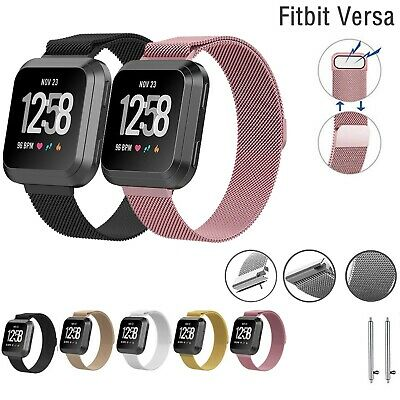 $ CDN10.57 • Buy For Fitbit Versa Milanese Replacement Strap Stainless Steel Metal Watch Band UK