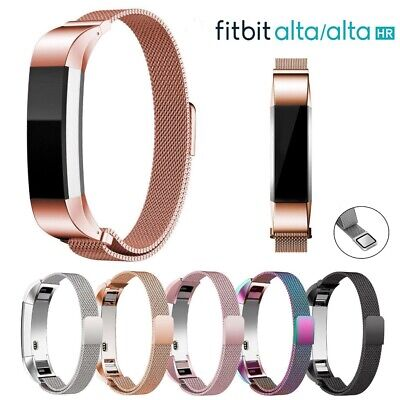 AU10.28 • Buy For Fitbit Alta / Alta HR Magnetic Milanese Stainless Steel Watch Band Strap