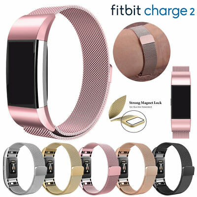 $ CDN10.26 • Buy For Fitbit Charge 2 Strap Replacement Milanese Loop Band Stainless Steel Magnet