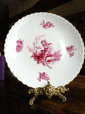 Minton Cabinet Plate With Puce Cherubs • 38£