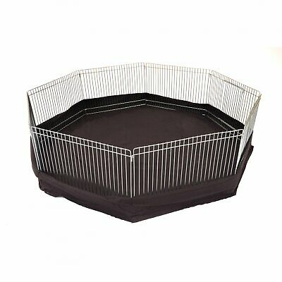 NEW! 8 Panel Indoor Outdoor Small Animal Play Pen Run With Ground Sheet • 17.99£