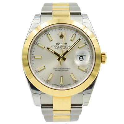 $ CDN13858.31 • Buy Rolex Datejust 41 Two-Tone - 126303 - Silver Dial With 18k Gold Bezel