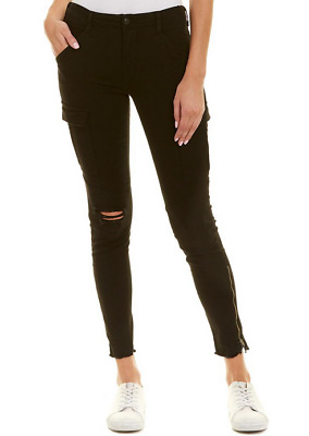 £52.67 • Buy J Brand Houlihan Ripped Cargo Ankle Pants Ripped Black 25 NWT $248