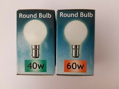 Crompton SBC / BC / SES Round Bulb 40W / 60W Opal - Sold In 10 • 10.99£