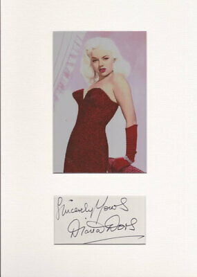 Diana Dors Mounted Autograph Page • 60£