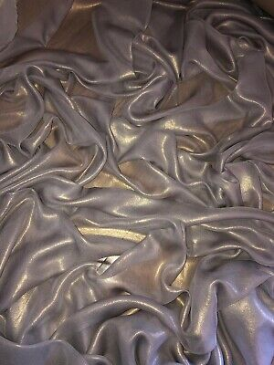 £2.99 • Buy 1 Mtr Quality Silver/gold Shimmer Chiffon Fabric...58  Wide