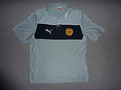 Large Motherwell FC Football Shirt Polo Shirt Soccer Jersey Scotland Maglia • 12.99£