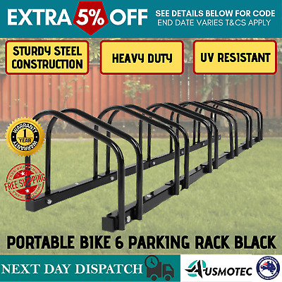 AU70.80 • Buy 1-6 Bicycle Rack Stand Bike Floor Parking Holder Portable Cycling BMX Storage