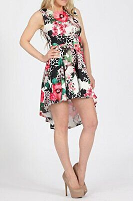 SALE PRICE BARGAIN Womens Floral High-Low Fit & Flare Skater Dress UK Size 10-16 • 12.99£
