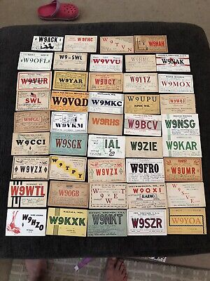 $ CDN25.37 • Buy 2. LOT OF 44 QSL CARDS FROM WISCONSIN MOSTLY 1930's POSTCARDS
