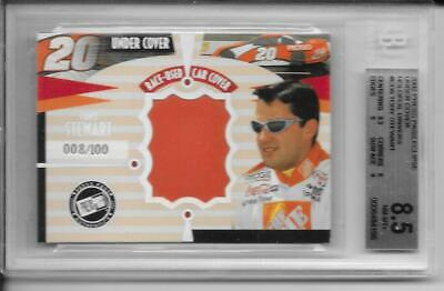 $10 • Buy 2002 Press Pass Tony Stewart Car Cover 8 Of 100 Beckett 8.5 -NASCAR Hall Of Fame