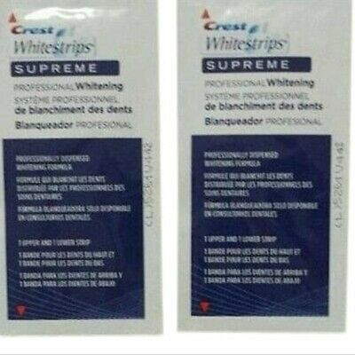 AU13.99 • Buy Professional Crest Whitestrips Supreme Professional Whitening 4 Strips 2 Pouches