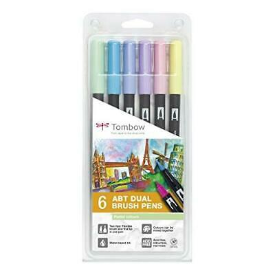 Tombow ABT Dual Brush Pen - Pastel (Pack Of 6) • 19.98£