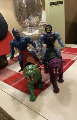 $100 • Buy He-Man Masters Of The Universe BATTLE CAT & PANTHOR Set Lot Complete