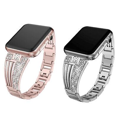 $ CDN19.49 • Buy Bling Stainless Steel Watch Band Strap For Apple Watch Series 4 3 2 1 38mm-44mm
