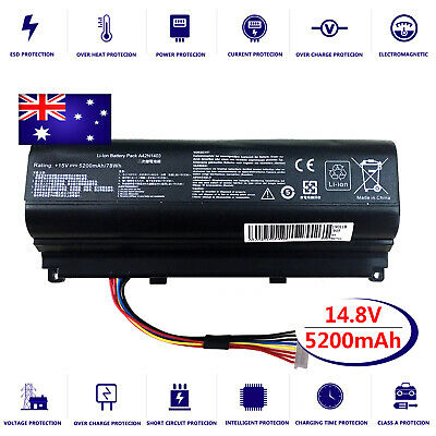 AU56.95 • Buy Battery For Asus ROG G751JT-T7122H G751JT-T7128H G751JT-T7130H Laptop