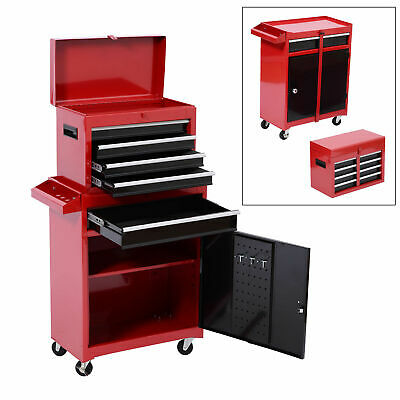 View Details HOMCOM Portable Tool Chest Rolling Toolbox Storage Cabinet Cart Sliding Drawers • 39.99$