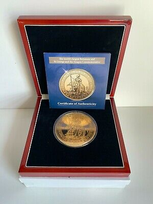 £135 • Buy Britannia And St George And The Dragon Commemorative Super Crown Size 3.5  Coin