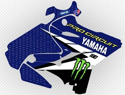 AU284.37 • Buy YAMAHA YZ125 & YZ250 2015-2019 Ryan Villopoto Replica Graphics Kit