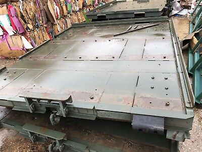 $2480 • Buy Military Trailer Steel Deck Platform Pintle Hitch Ring Front 9ft X 8ft 4 Casters