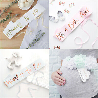 Mum To Be Sash Baby Shower Party Accessories Mummy To Be, Baby Boy & Baby Girl • 4.50£