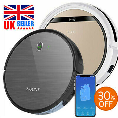 View Details ZIGLINT D5 /ILIFE V5S Pro Smart Cleaning Robot Vacuum Cleaner Dust Sweeper UK • 129.99£