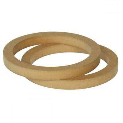 £8.91 • Buy 6.5  165mm Pair Of MDF Speaker Spacer Mounting Rings 18mm Thick ID 144mm