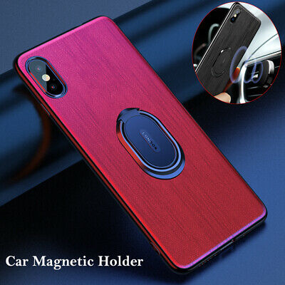 AU6.61 • Buy For IPhone 6 7 8 Plus XR XS Max Car Magnetic Ring Holder Slim PC + TPU Back Case