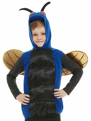 Childs Bug Costume Boys Girls Insect Ball Halloween Fly Fancy Dress Outfit Kids • 15.95£