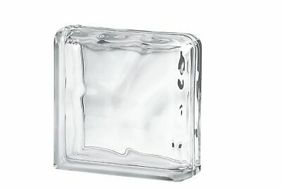 Clear Wave Double End Glass Blocks - Seves X 24 Blocks • 110£