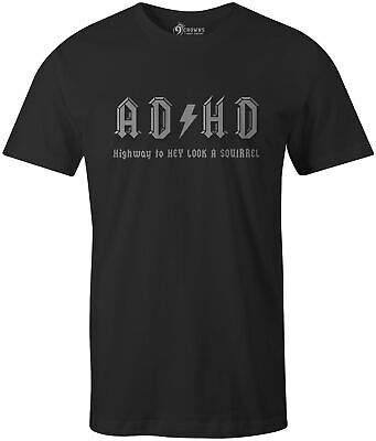 $14.99 • Buy 9 Crowns Tees ADHD Funny Graphic Tee Shirt