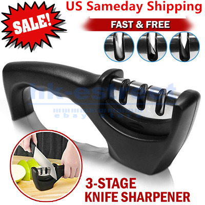 $7.29 • Buy KNIFE SHARPENER Professional Ceramic Tungsten Kitchen Sharpening System Tool